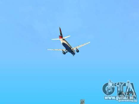 Airbus A320 British Airways für GTA San Andreas obere Ansicht