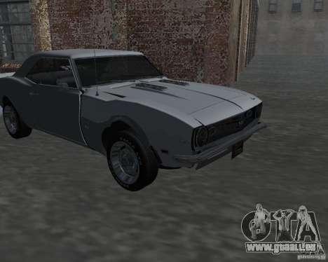 Chevrolet Camaro SS pour GTA San Andreas vue intérieure