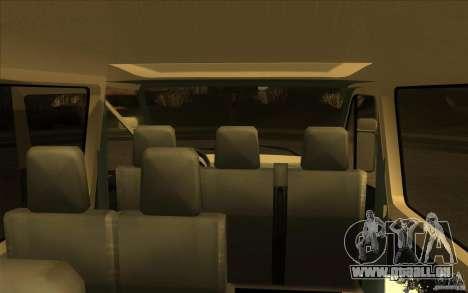 Mercedes Benz Sprinter 315 CDI pour GTA San Andreas vue arrière