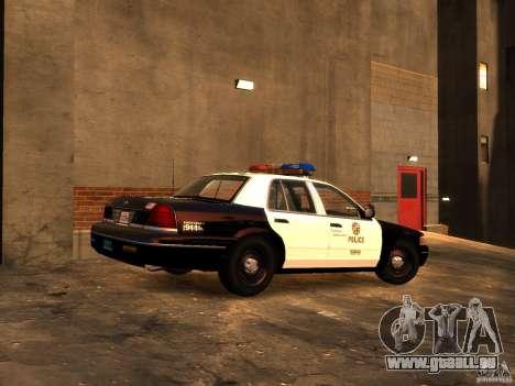 Ford Crown Victoria LAPD v1.1 [ELS] für GTA 4 hinten links Ansicht