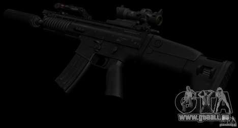 SCAR-L black pour GTA San Andreas troisième écran