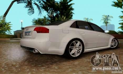 Audi RS4 2007 pour GTA San Andreas vue intérieure