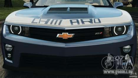Chevrolet Camaro ZL1 2012 v1.0 Smoke Stripe pour GTA 4 roues