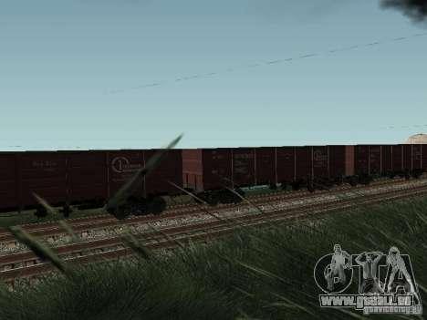 Société cargo wagon ouvert pour GTA San Andreas vue de droite