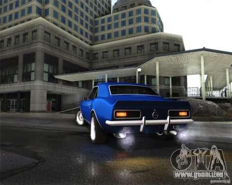 Chevrolet Camaro 1969 pour GTA San Andreas vue arrière