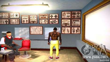 Drei neue Tätowierung für GTA San Andreas fünften Screenshot
