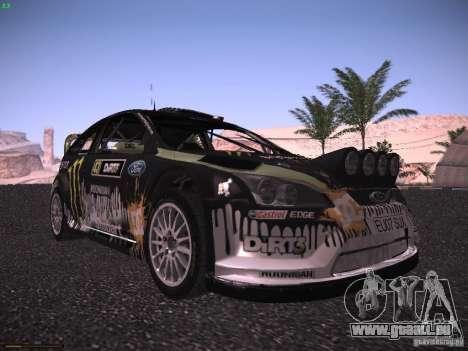 Ford Focus RS Monster Energy pour GTA San Andreas laissé vue