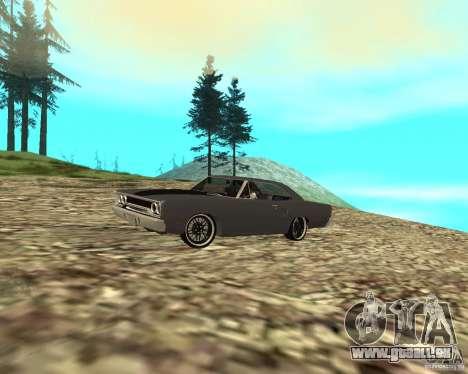 Plymouth Roadrunner 1970 für GTA San Andreas zurück linke Ansicht
