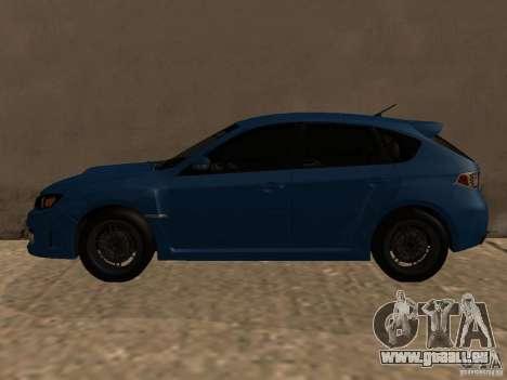 Subaru Imreza WRX für GTA San Andreas zurück linke Ansicht