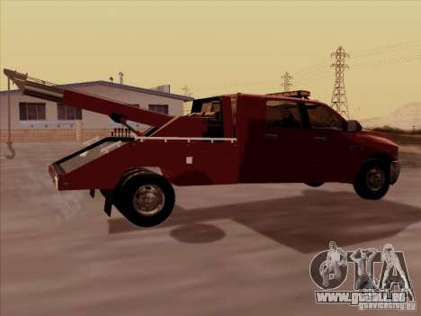 Dodge Ram 3500 TowTruck 2010 pour GTA San Andreas vue de droite