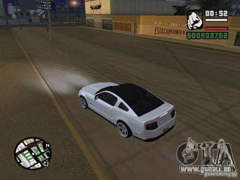 Ford Mustang GT B&W pour GTA San Andreas sur la vue arrière gauche