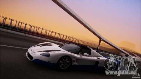 Maserati MC12 V1.0 pour GTA San Andreas vue de côté