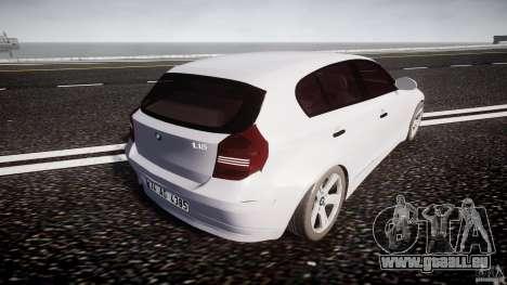 BMW 118i für GTA 4 obere Ansicht