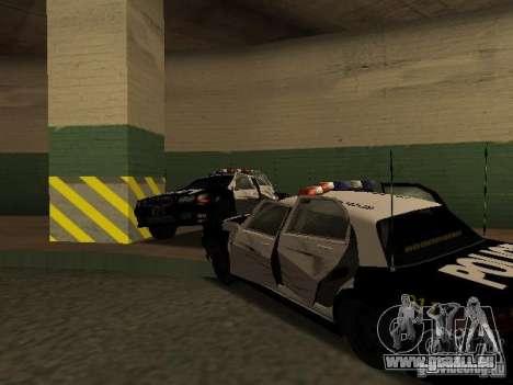 Police Civic Cruiser NFS MW für GTA San Andreas Innenansicht