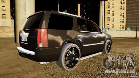 Cadillac Escalade 2007 v3.0 pour GTA 4 Vue arrière de la gauche