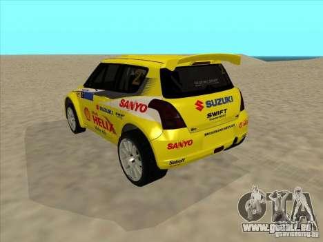 Suzuki Rally Car pour GTA San Andreas laissé vue