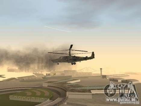 KA-50 Black Shark pour GTA San Andreas vue de dessus