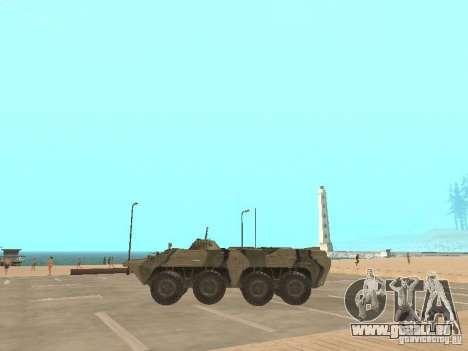 BTR 80 pour GTA San Andreas laissé vue