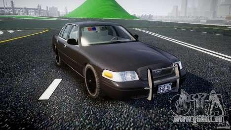 Ford Crown Victoria 2003 v2 FBI für GTA 4 Rückansicht
