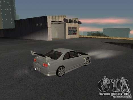 Nissan Skyline R33 SGM pour GTA San Andreas vue de droite