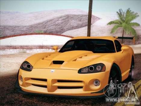 Dodge Viper SRT-10 ACR pour GTA San Andreas sur la vue arrière gauche