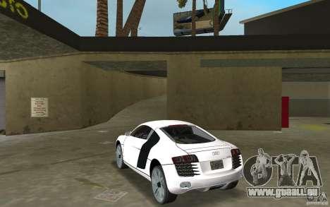 Audi R8 Le Mans für GTA Vice City zurück linke Ansicht