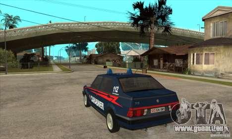 Alfa Romeo 75 Carabinieri für GTA San Andreas zurück linke Ansicht