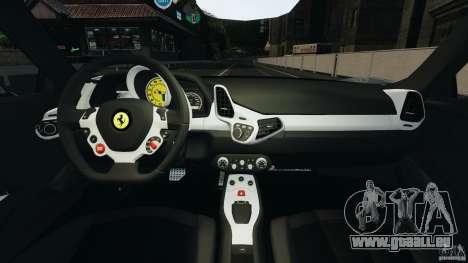 Ferrari 458 Italia 2010 [Key Edition] v1.0 pour GTA 4 Vue arrière