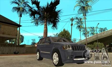 Jeep Grand Cherokee SRT8 v2.0 für GTA San Andreas Rückansicht