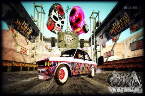 Datsun 510 Monster Energy für GTA San Andreas zurück linke Ansicht