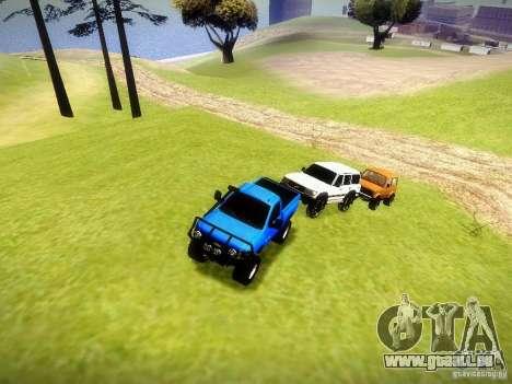 Chevrolet Silverado OFFRoad pour GTA San Andreas vue intérieure