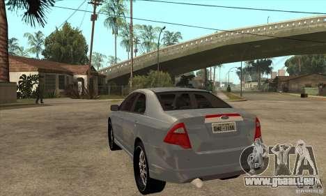 Ford Fusion V6 DUB 2011 für GTA San Andreas zurück linke Ansicht