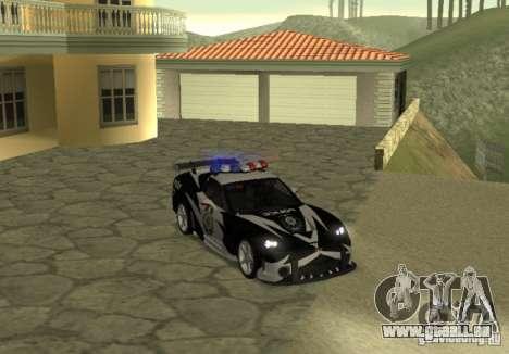 Chevrolet Cross Corvette C6 pour GTA San Andreas vue de droite
