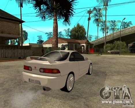 Honda Integra 1996 pour GTA San Andreas sur la vue arrière gauche