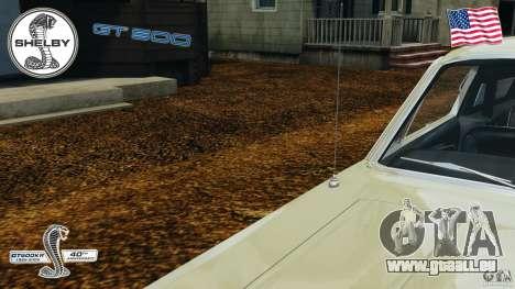 Shelby GT 500 für GTA 4 Innen