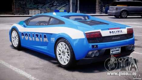 Lamborghini Gallardo LP560-4 Polizia pour GTA 4 est un droit