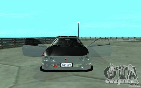 Acura Integra Type-R pour GTA San Andreas vue intérieure