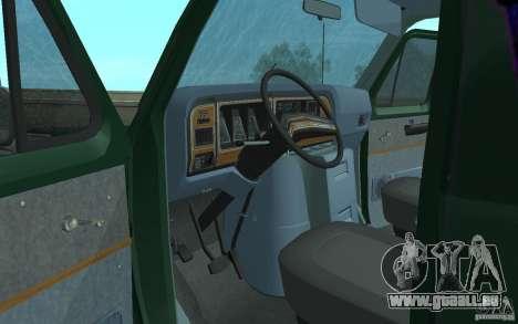 Ford E-150 Short Version v2 für GTA San Andreas Innenansicht
