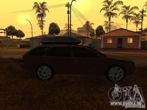 Skoda Octavia pour GTA San Andreas vue de côté