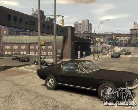 1967 Ford Mustang pour GTA 4 est un droit