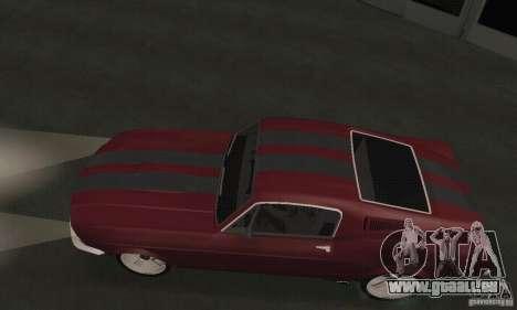Ford Mustang 1968 für GTA San Andreas zurück linke Ansicht