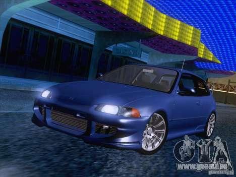 Honda Civic IV GTI pour GTA San Andreas sur la vue arrière gauche