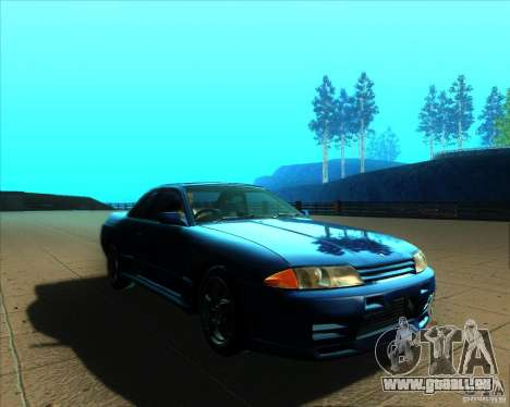 Nissan Skyline GT-R R32 1993 Tunable pour GTA San Andreas vue de dessus