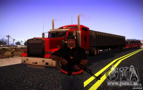 Kenworth W 900L pour GTA San Andreas salon