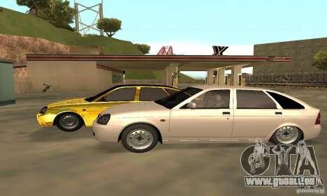 Lada Priora Gold für GTA San Andreas Rückansicht