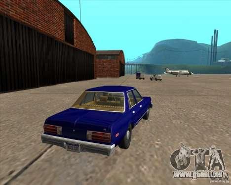 Dodge Aspen 1979 pour GTA San Andreas sur la vue arrière gauche
