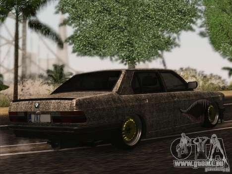 BMW E28 525E RatStyle für GTA San Andreas Rückansicht