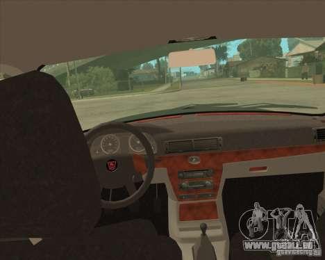GAZ Volga 3110 Police von versandfertig für GTA San Andreas Rückansicht