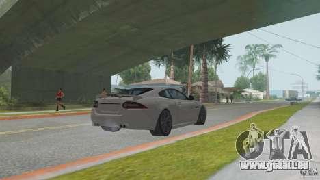 Jaguar XKR-S pour GTA San Andreas vue de droite