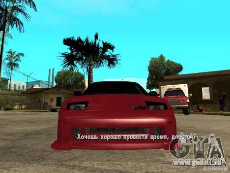 Nissan 240SX Tuned pour GTA San Andreas vue de droite